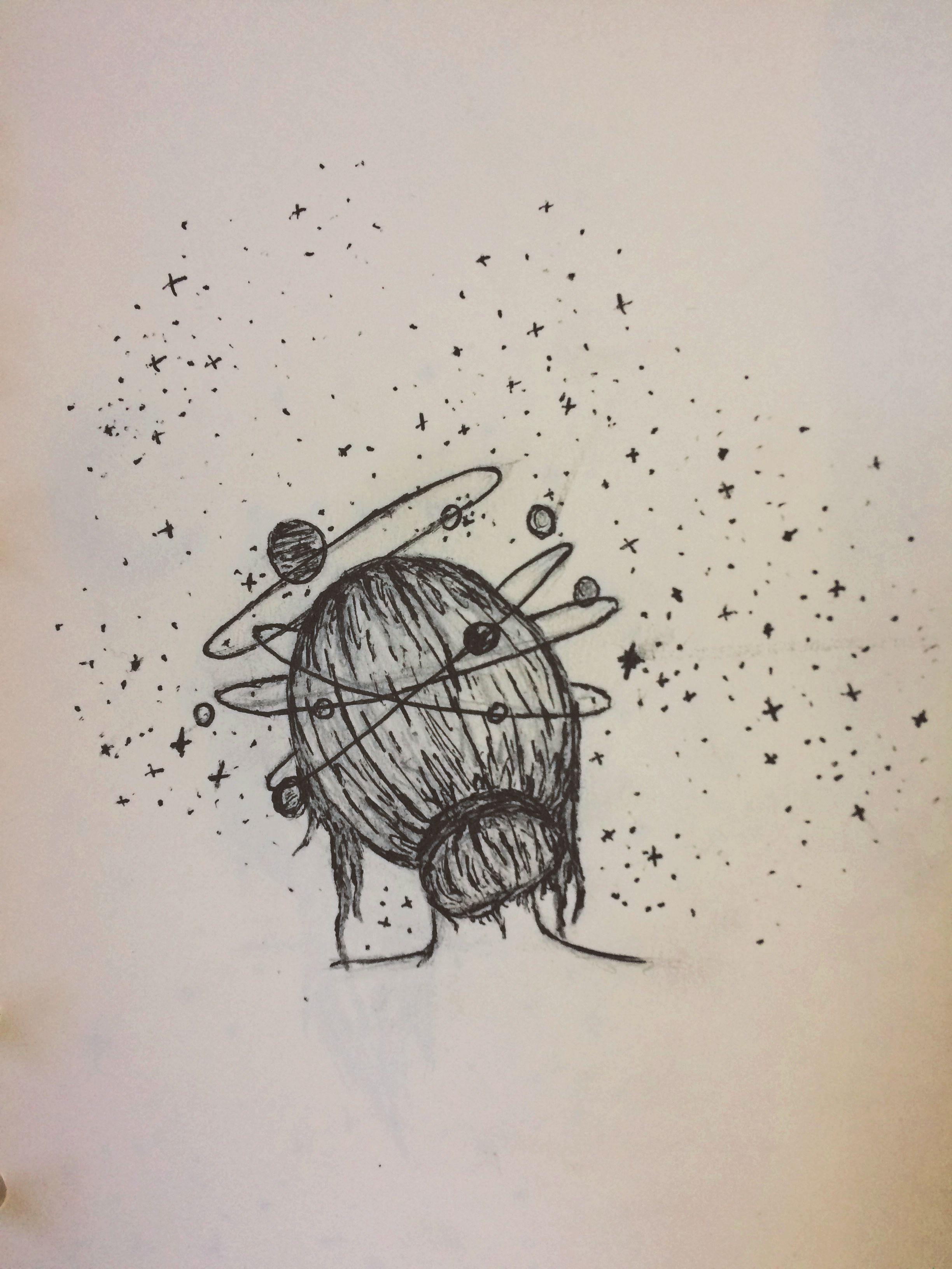 Thoughts Drawing : thoughts, drawing, Thought., #draw, #penart, #sketches, #drawings, #space, #artwork, #doodles, Galaxy, Drawings,, Space, Drawings