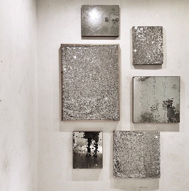 Great For Bathroom Decor Silver Wall Art Glitter Wall Glitter Room