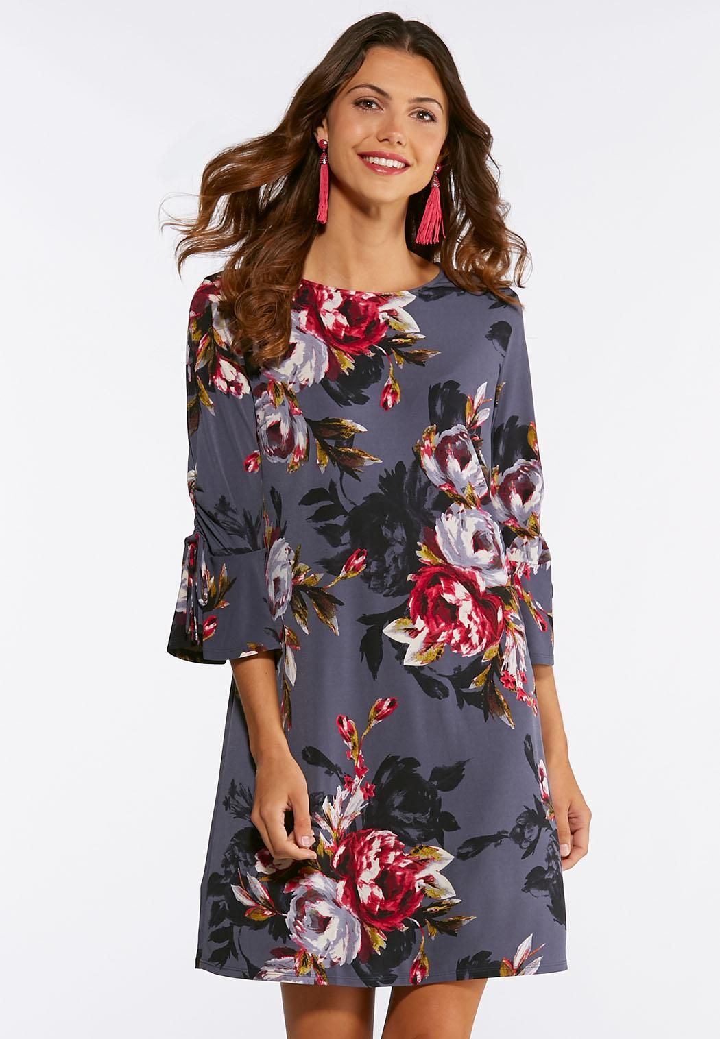 fc141ada869 Bell Sleeve Floral Swing Dress  catoconfident