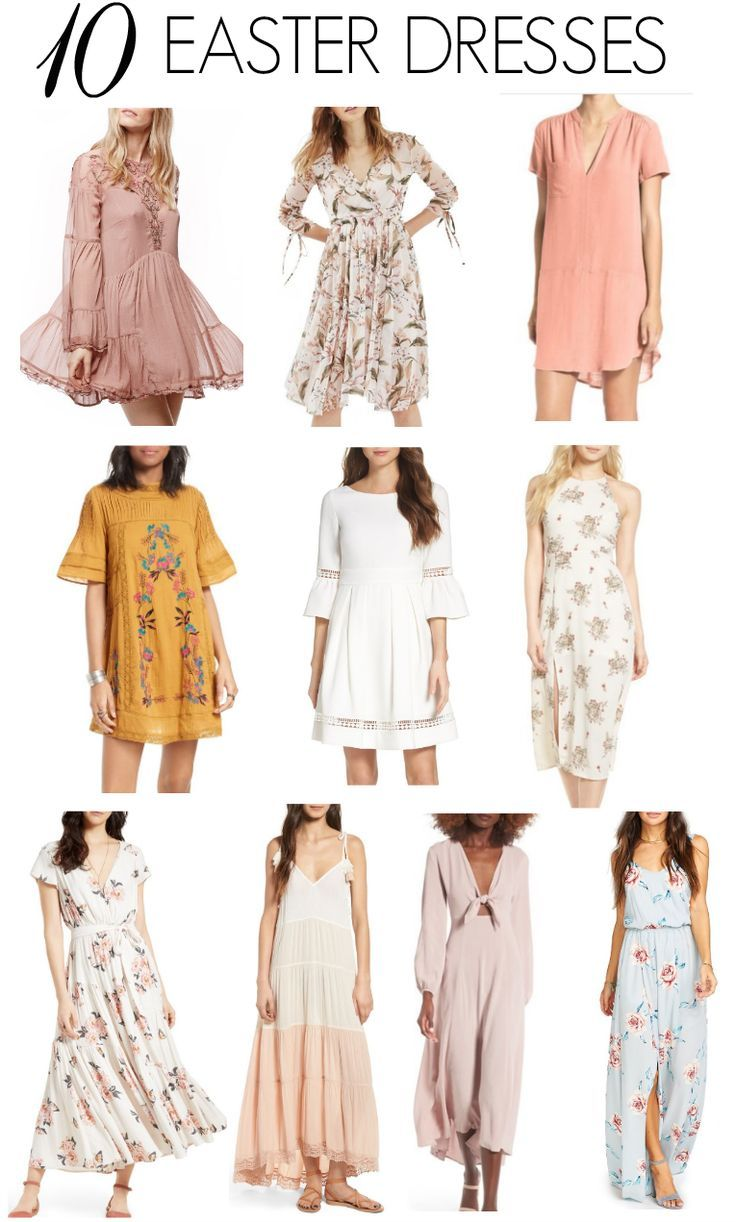 20 CUTE EASTER DRESSES - Katie Did What  Spring fashion outfits