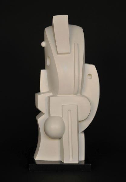 Galerie Piece Unique - Solaire, 2001-2011  Bronze monochrome blanc  Edition of 3  Cm 52 x 23 x 23  (VARI 102)