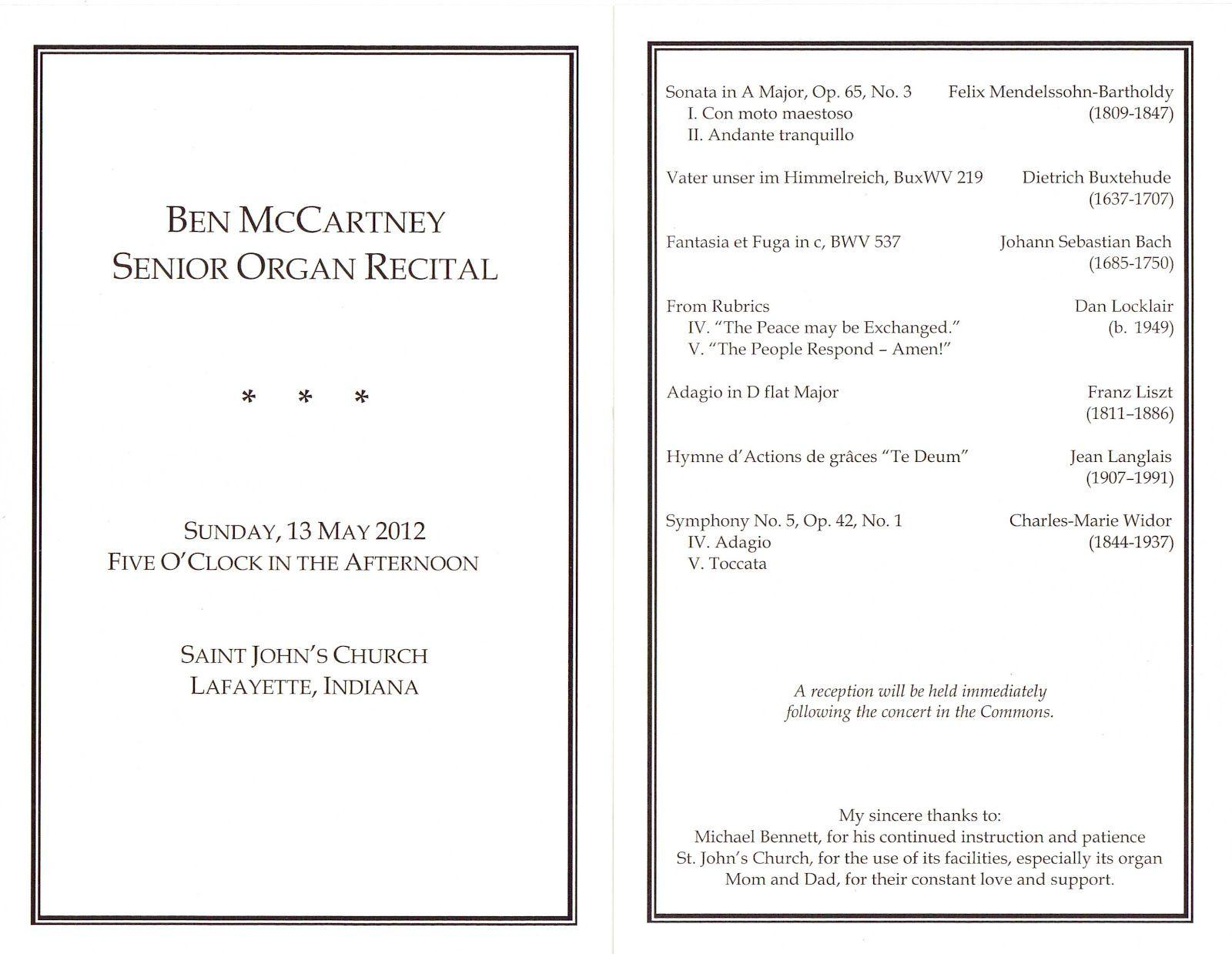 Image Result For Vocal Recital Program Format Recital Vocal Sebastian Bach