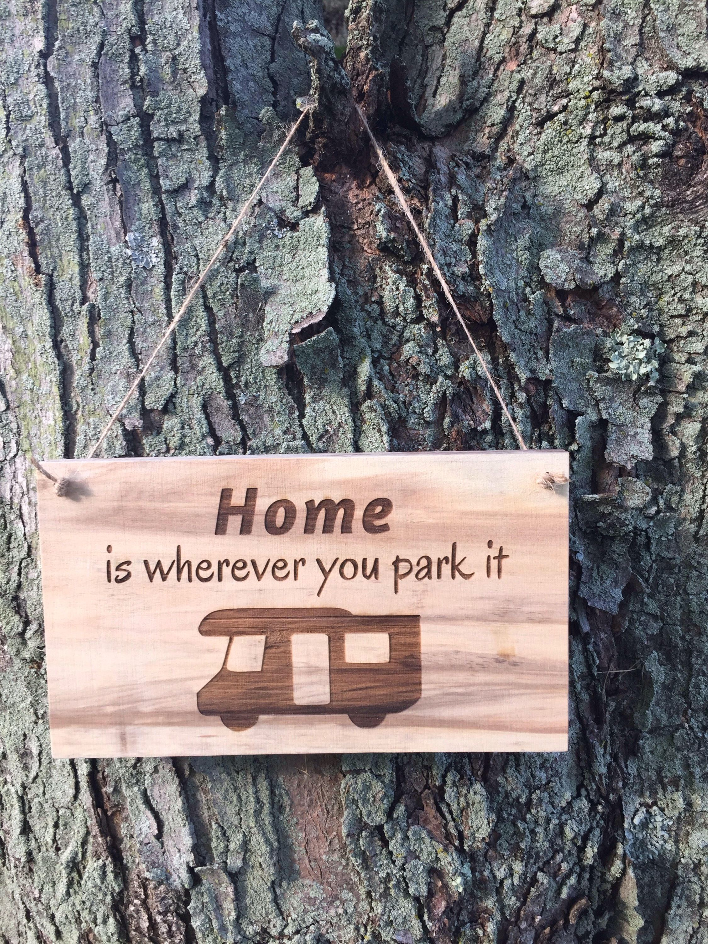 Camping sign rv sign camp sign wooden camping sign