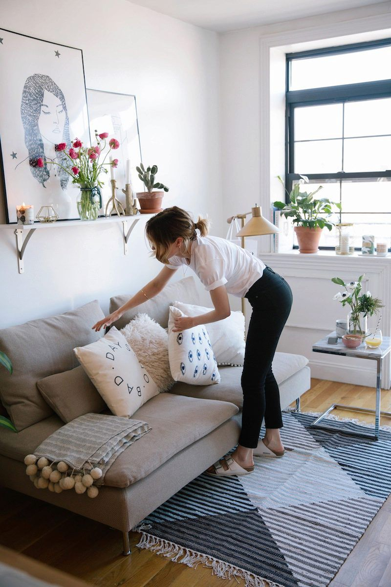 sweet designer couches. Cute corner  sweet shelf Anna Ottum on Urban Outfitters Blog