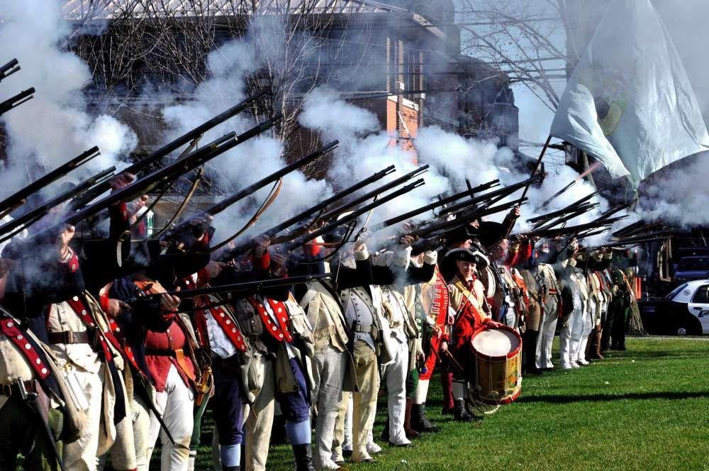 July 4th, 1777 in Bristol, Rhode Island: thirteen gunshots ...