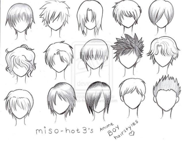 Different Types Of Anime Hair