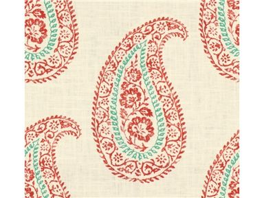 Kravet MADIRA CORAL MADIRA.913 - Kravet-edesigntrade - New York, NY, MADIRA.913,Kravet,Print,Coral, Turquoise,S,Softened,Up The Bolt,Echo Home,Paisley,Multipurpose,China,Yes,Kravet,No,MADIRA CORAL  13.5 x 12.5