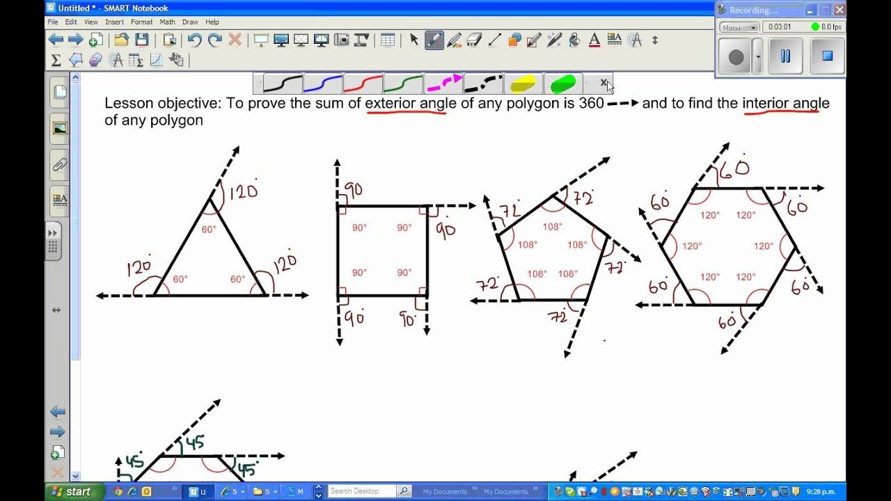 Updated Learning: Exterior And Interior Angles