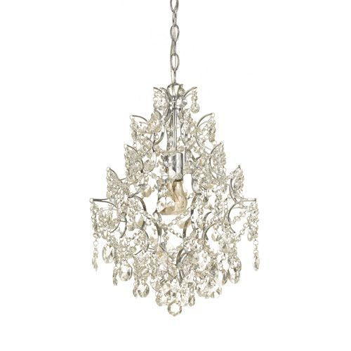 Af Lighting Cosmo Plated Chrome One Light Mini Chandelier By Elements