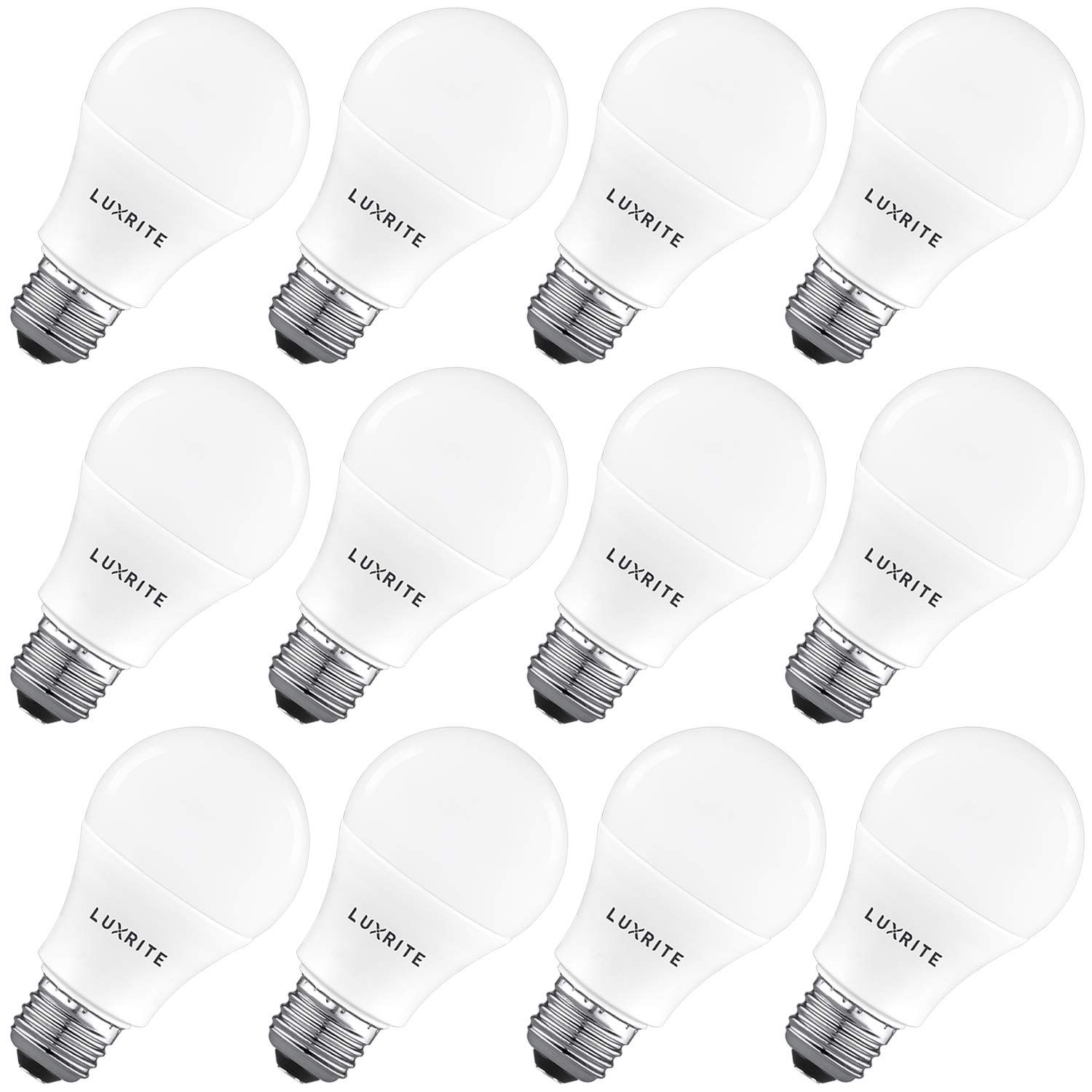 Luxrite A19 Led Light Bulb 100w Equivalent 5000k Bright White Non Dimmable 1600 Lumens Standard Led Bulb 15w E26 Medium Base Led Light Bulb Led Bulb Bulb
