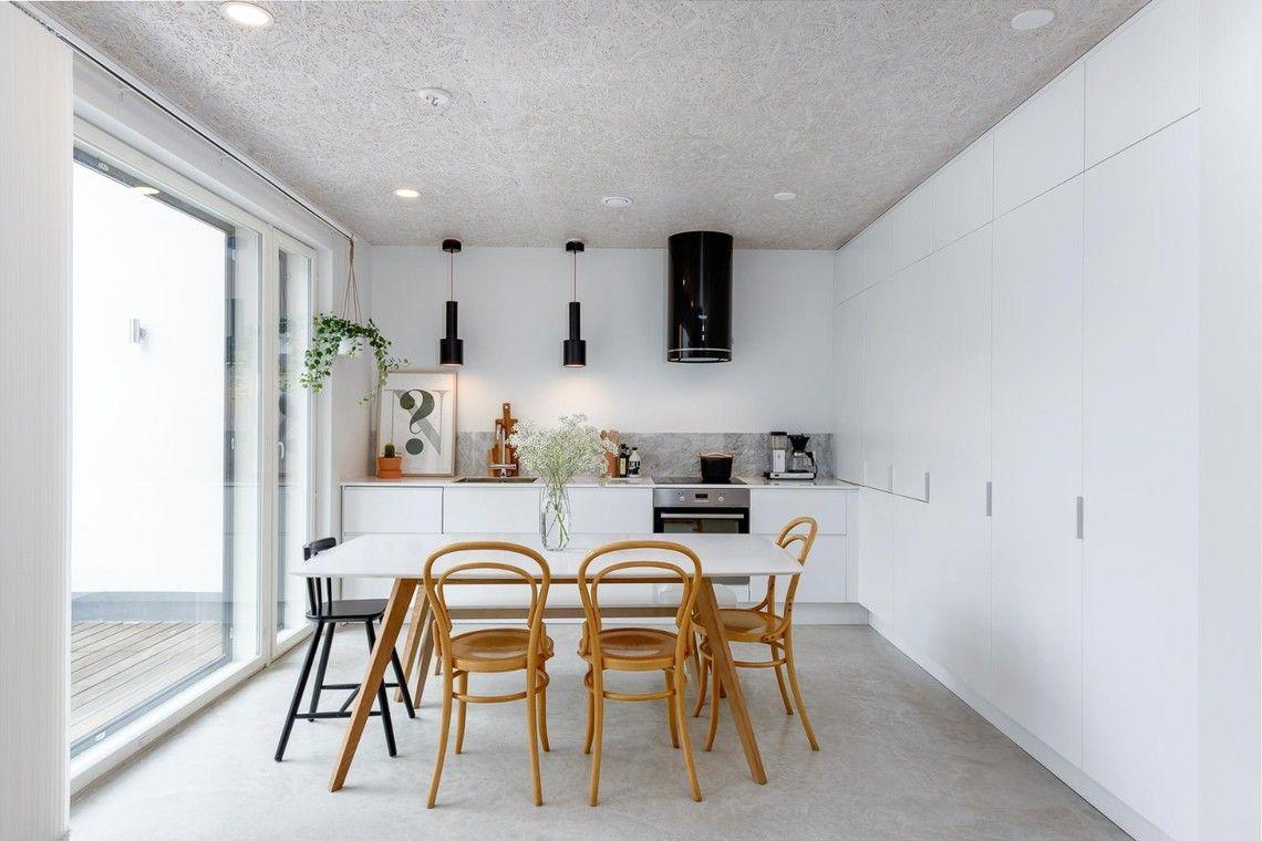 Selkeälinjainen valkoinen keittiö - Etuovi.com Sisustus