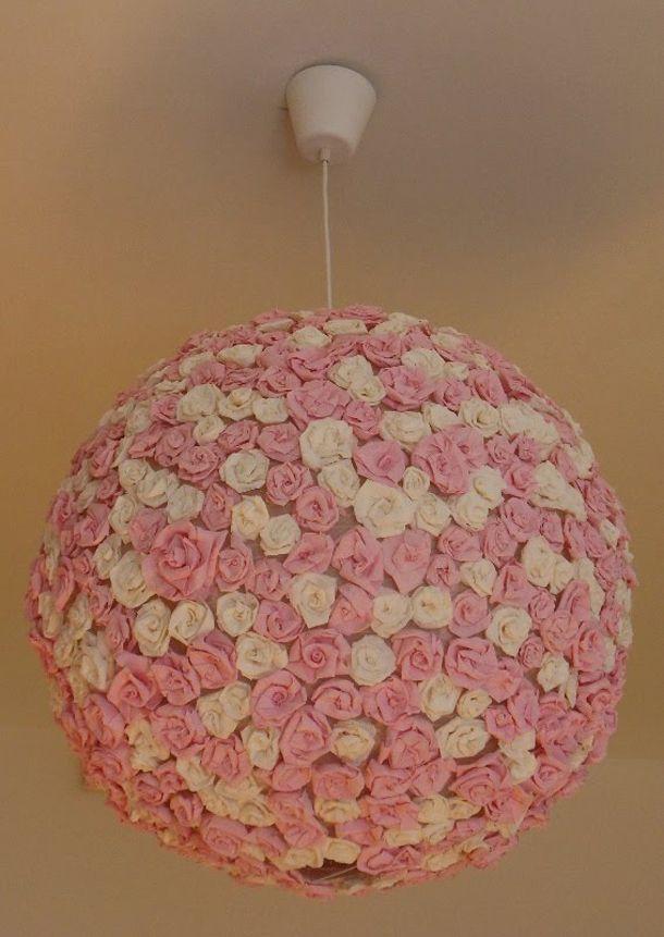 Originele Lamp Gemaakt Van Lamp Regolit Van Ikea Lijm En Papieren