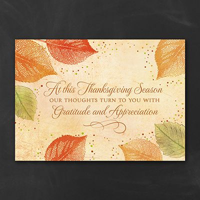 show your gratitude with the touching message and the colorful leaf