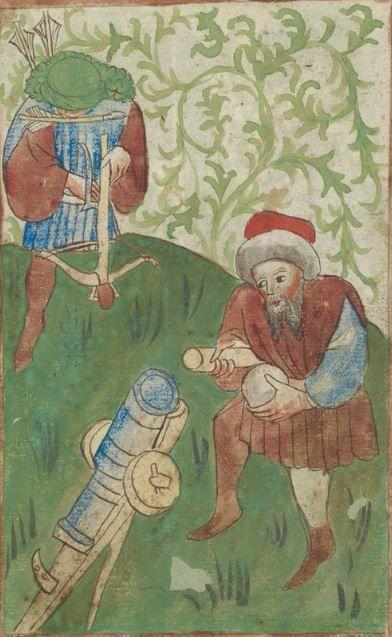 Kriegstechnik (Bilderhandschrift) Oberrhein · um 1420-1440 Ms. Rh. hist. 33b  Folio 8v