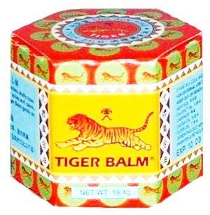 RED Tiger Balm Herbal Muscular Analgesic Ointment Nasal Inhaler 19.4 G From Thailand . $22.99. Type: Herbal balm Brand: Tiger Variant: Red Product features: Tiger Balm Red is a warm comforting remedy that is most effective for relieving muscular aches and pains. But is it also versatile enough to relieve insect bites, itchiness and headaches. Just rub the ointment onto your skin, and its pain relieving properties will work quickly to reduce aches, swelling and other discomfo...
