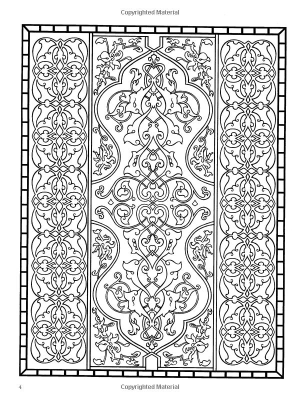 Amazon.com: Decorative Tile Designs Coloring Book (Dover Design ...
