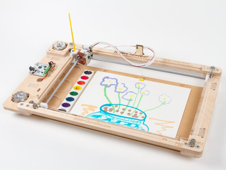 Watercolorbot 2 0 Chalkboard Paint Wall Wall Painting