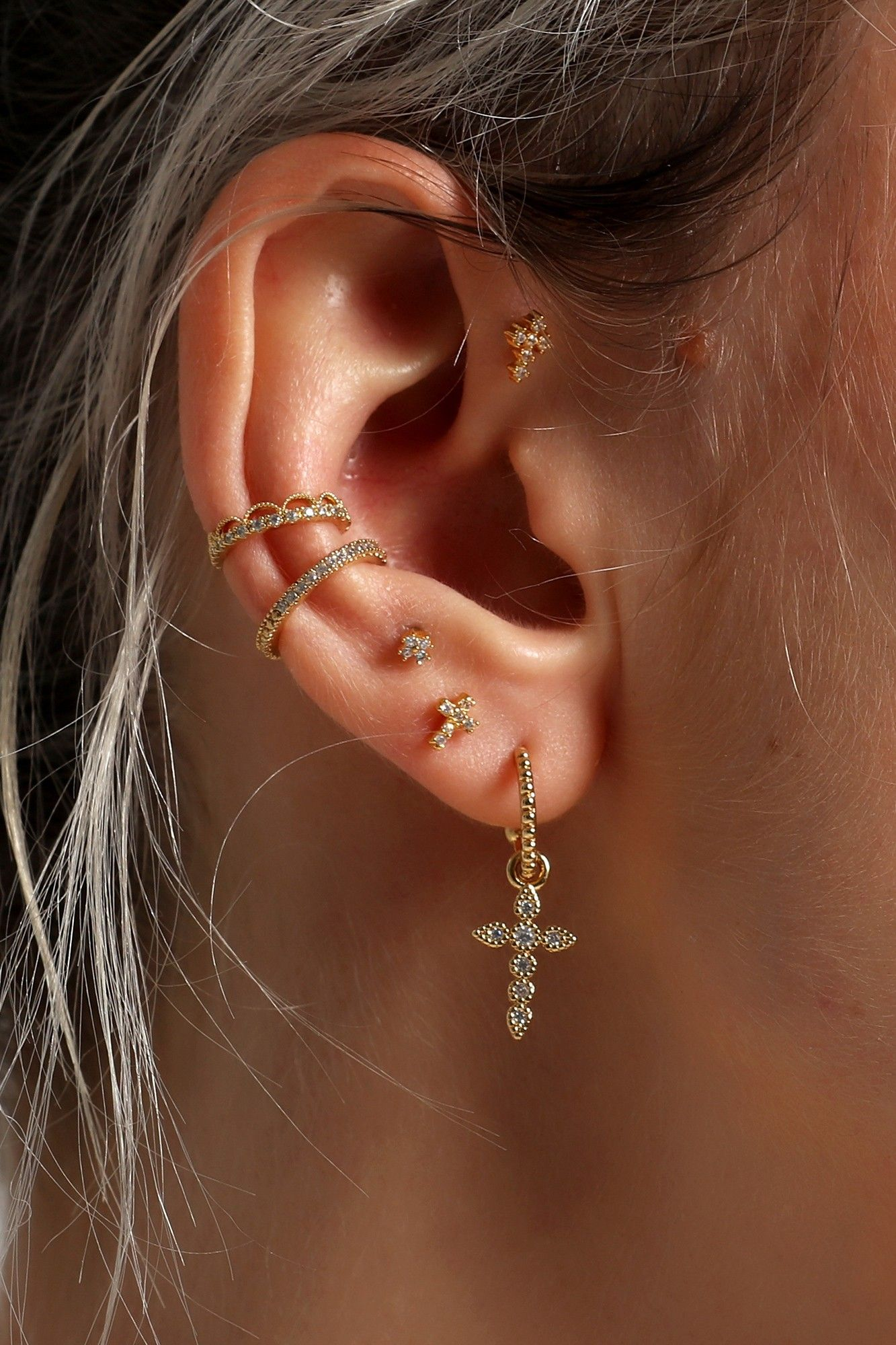 Berry Gold #earpiercingideas