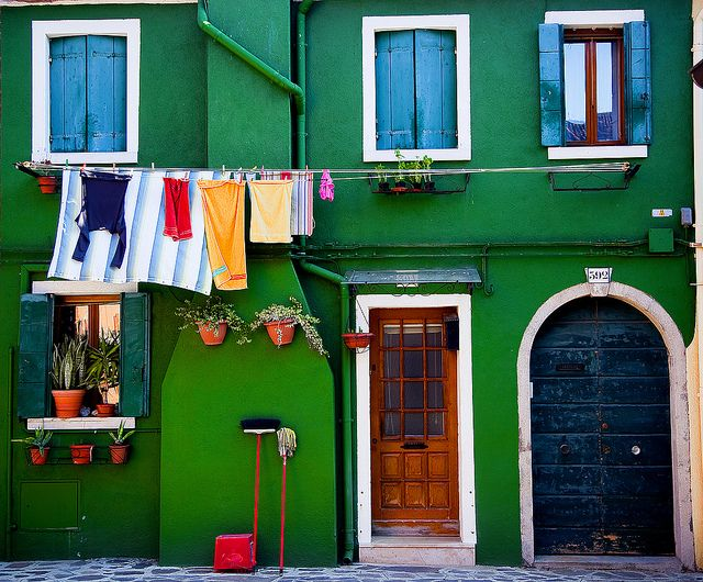 Burano Cleaning Day by Phil O'Toole, via Flickr