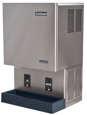Countertop Convenience From The Scotsman Mdt5n25a This Nugget Ice Machine Creates And Dispenses Ice And Has A Separate Spout Break Room Ice Machine Cafeteria