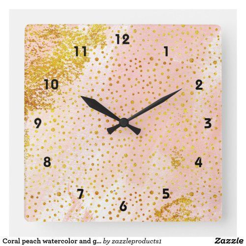 Coral peach watercolor and gold foil confetti square wall clock #clock #watercolor #coral #gold #confetti #confettisquares Coral peach watercolor and gold foil confetti square wall clock #clock #watercolor #coral #gold #confetti #confettisquares Coral peach watercolor and gold foil confetti square wall clock #clock #watercolor #coral #gold #confetti #confettisquares Coral peach watercolor and gold foil confetti square wall clock #clock #watercolor #coral #gold #confetti #confettisquares Coral pe #confettisquares
