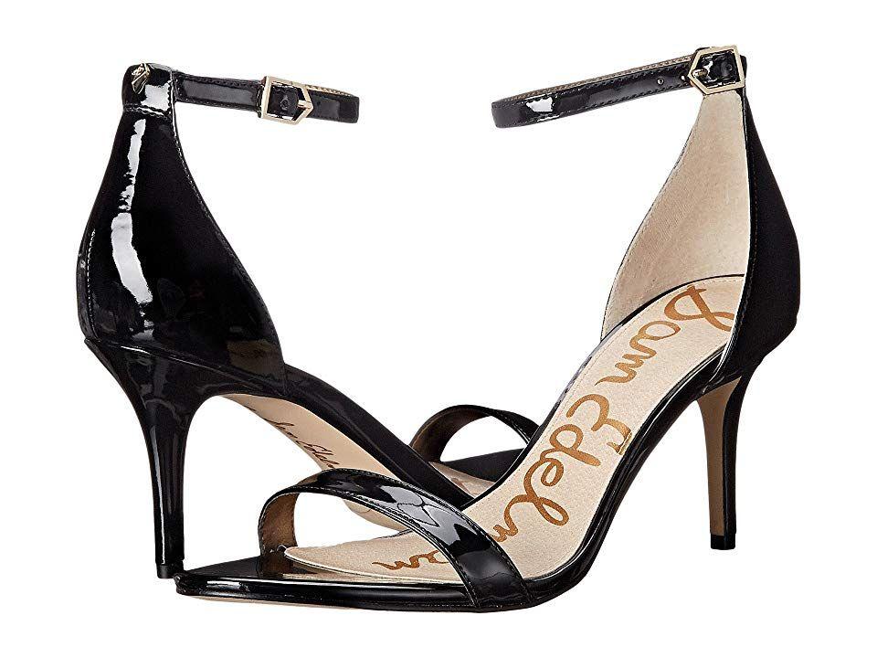 2ae7a5fc7 Sam Edelman Patti Strappy Sandal Heel (Black Patent) High Heels. The Sam  Edelman