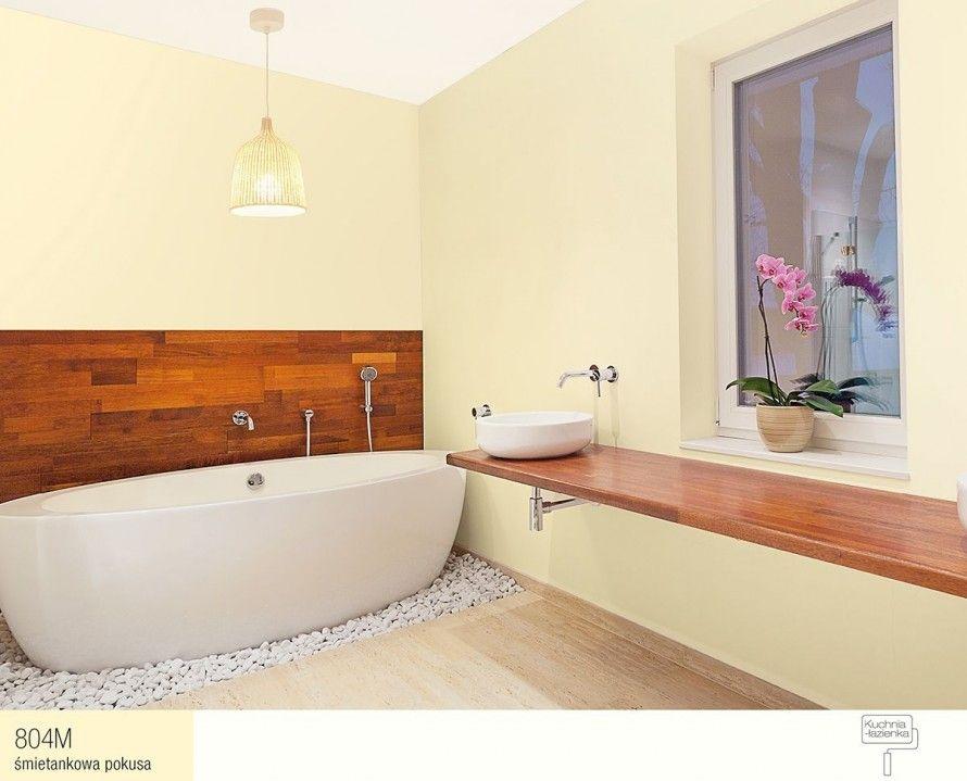 804m śmietankowa Pokusa Farby śnieżka łazienka Kolory