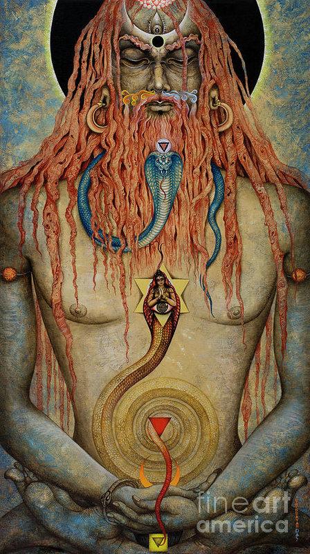 Yogi. Kutastha Art Print by Vrindavan Das
