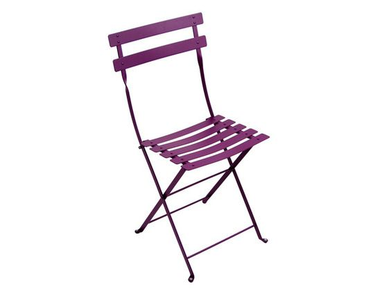 Chaise Metal Bistro Chaise En Metal Mobilier De Jardin With Images Bistro Chairs Metal Bistro Chairs Folding Chair