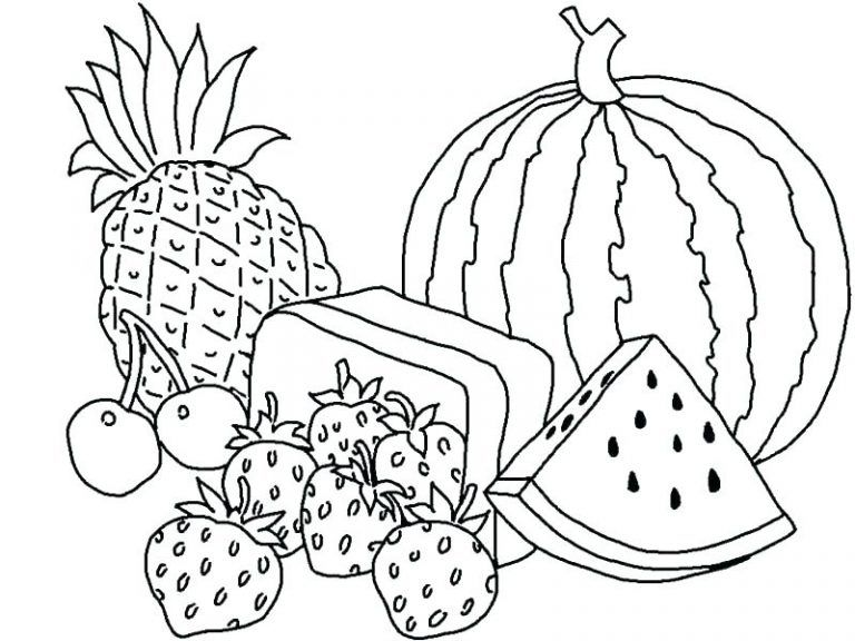 Free Printable Fruit Coloring Pages For Kids | Fruit coloring pages, Vegetable coloring pages, Easter coloring pages
