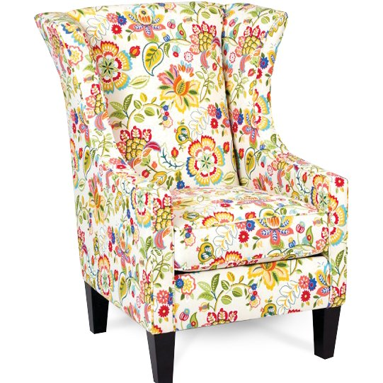 Multi Color Floral Garden Wingback Chair Telfair Rc Willey Furniture Store Wingback Chair Small White Bedrooms Chair