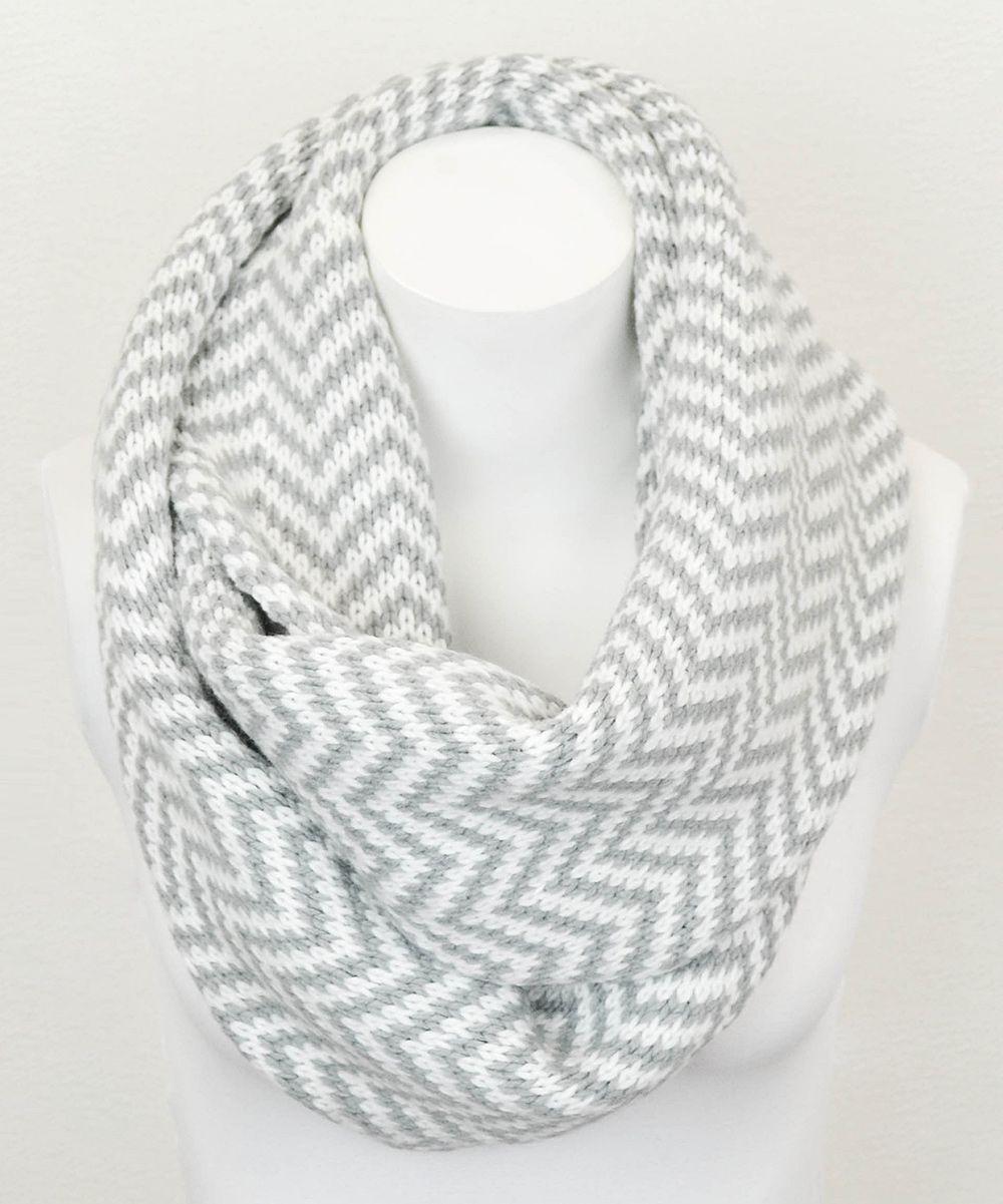 Gray Zigzag Infinity Scarf: ohmygoodness I definitely need this in ...