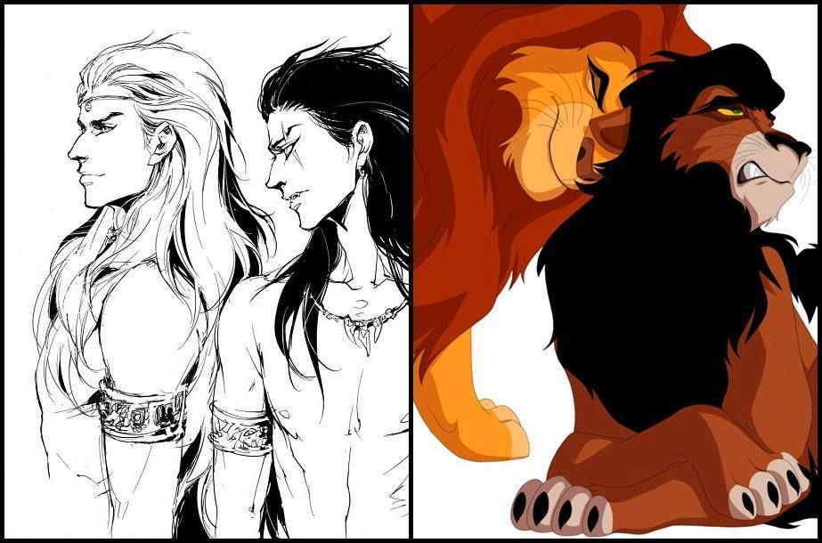 The Lion King fanart | Mufasa and Scar human form | Animation and ...