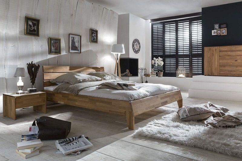 WOODLIVE Massivholzbett DIVAS 140x200 Wildeiche massiv geölt Jetzt - schlafzimmer betten 200x200