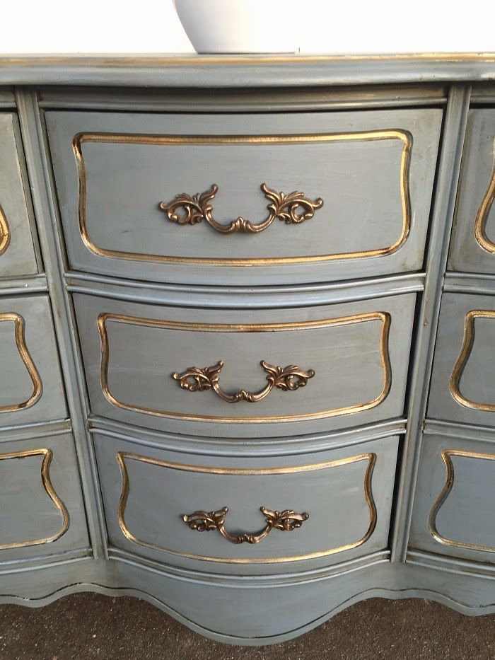 French Blue And Gold In 2019 Provincial Dresser