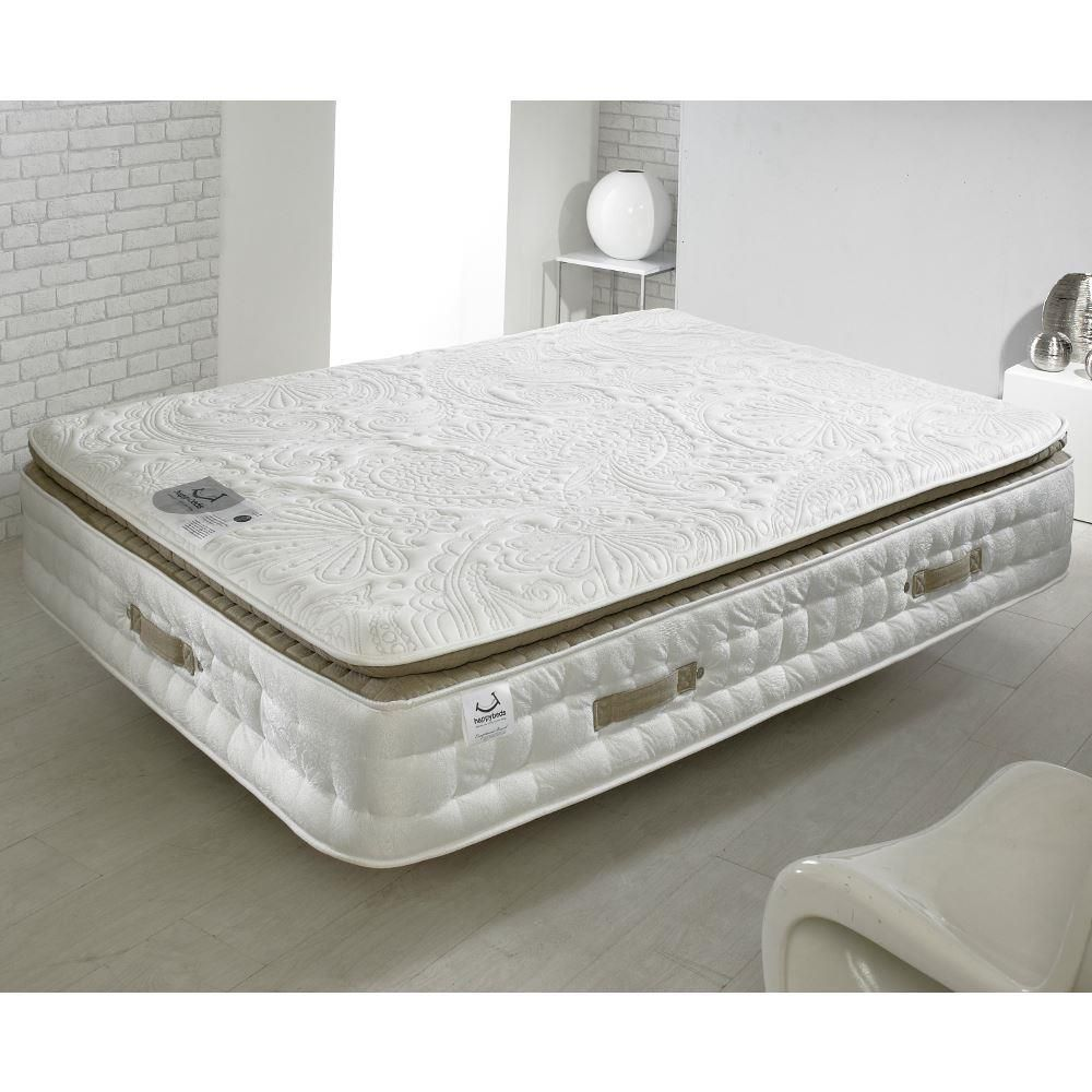 Windsor 3000 Pocket Sprung Memory Wool Orthopaedic Pillow Top Mattress - 5ft King Size (150 x 200 cm)