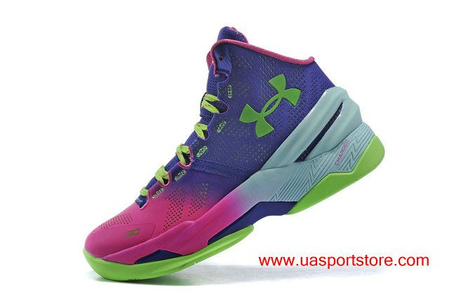 Women s Under Armour Curry 2 Pink Purple Green Jade-green Basketball Shoes 13156c95aa