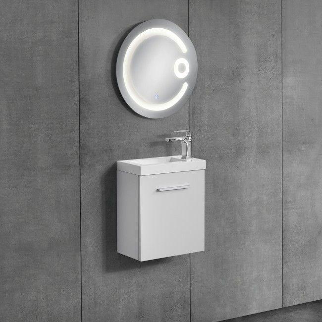 [neu.haus] Badezimmerschrank mit Waschbecken+Spiegel