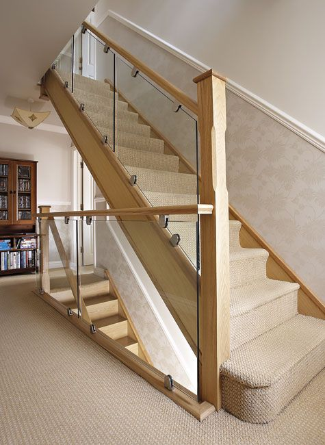 Modern Oak And Glass Staircase With Images Stairs Design