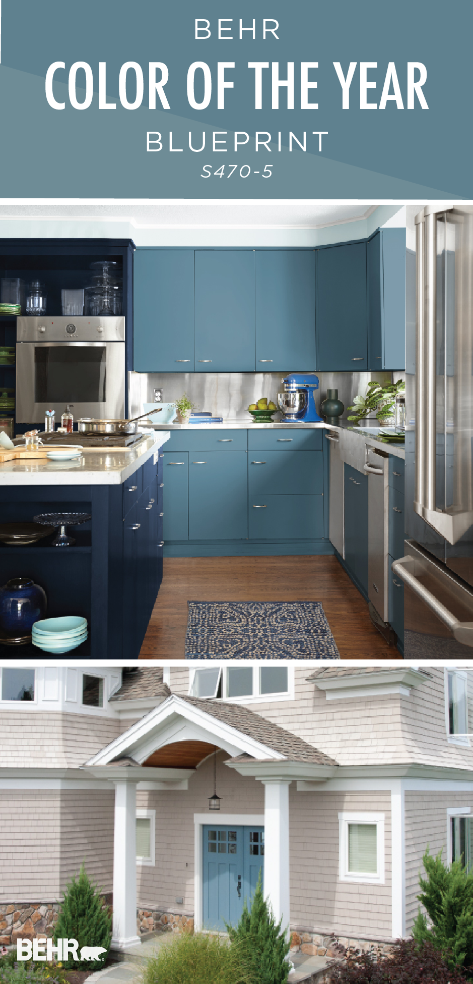 Color of the year blueprint behr 2019 color trends - Behr color of the year ...