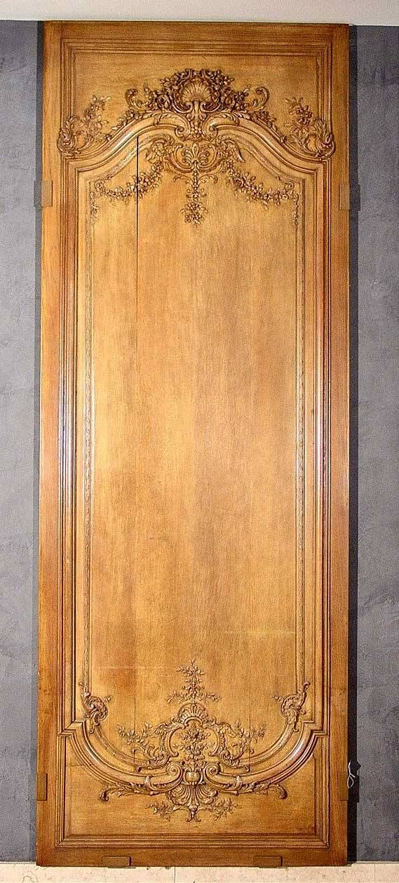 127: c1850 LG FINELY CARVED FRENCH OAK WALL PANEL, : Lot 127