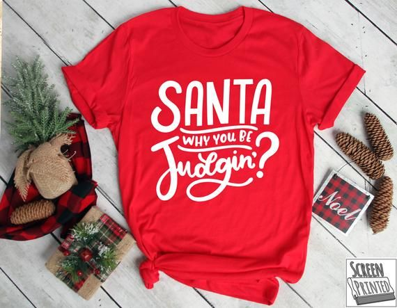Funny Christmas Shirt Santa Shirt Santa Nice List Bad List Shirt Christmas Top Women's Christmas Shirt