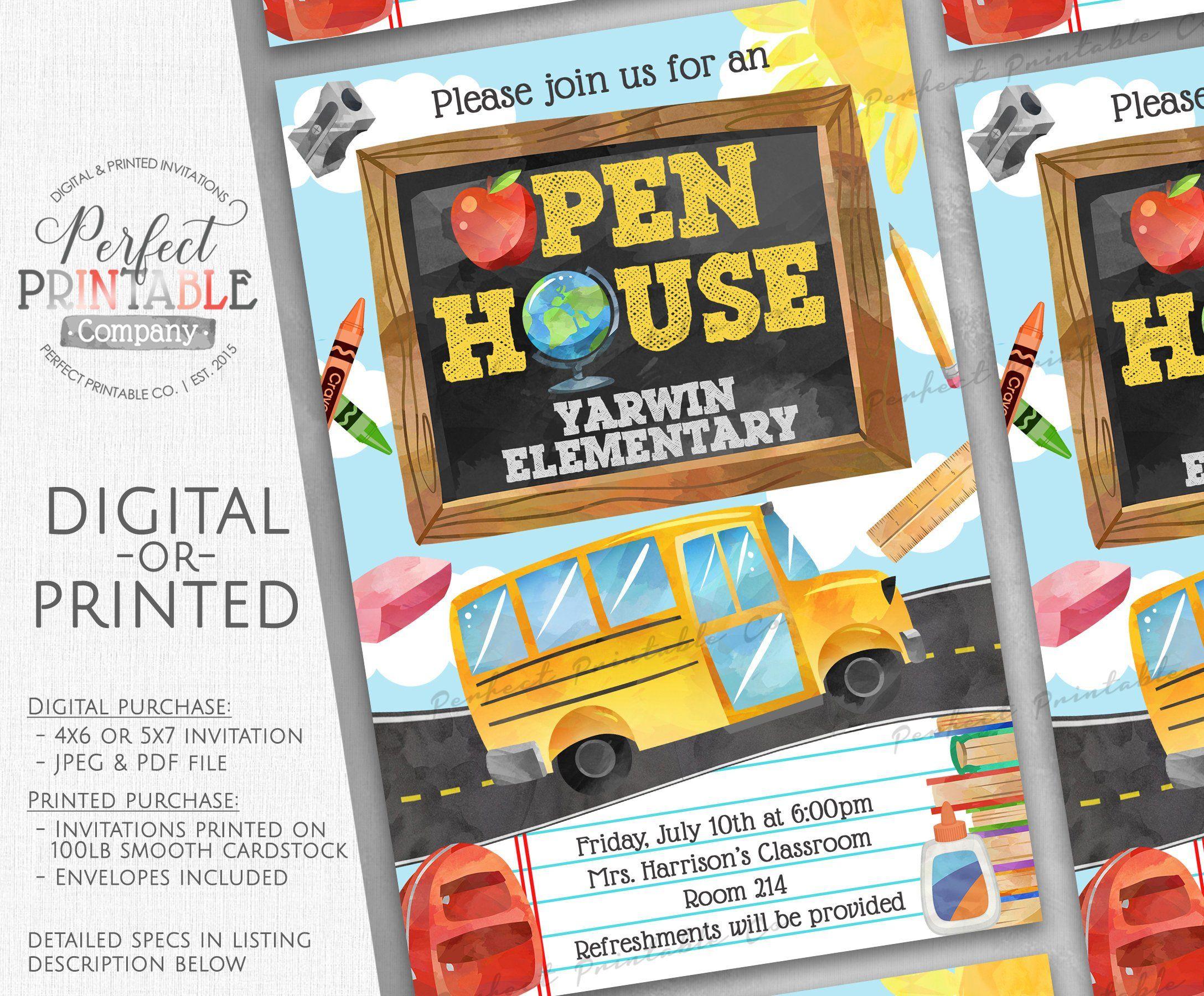 Open House Invitation Open House Invite Back To School Open House