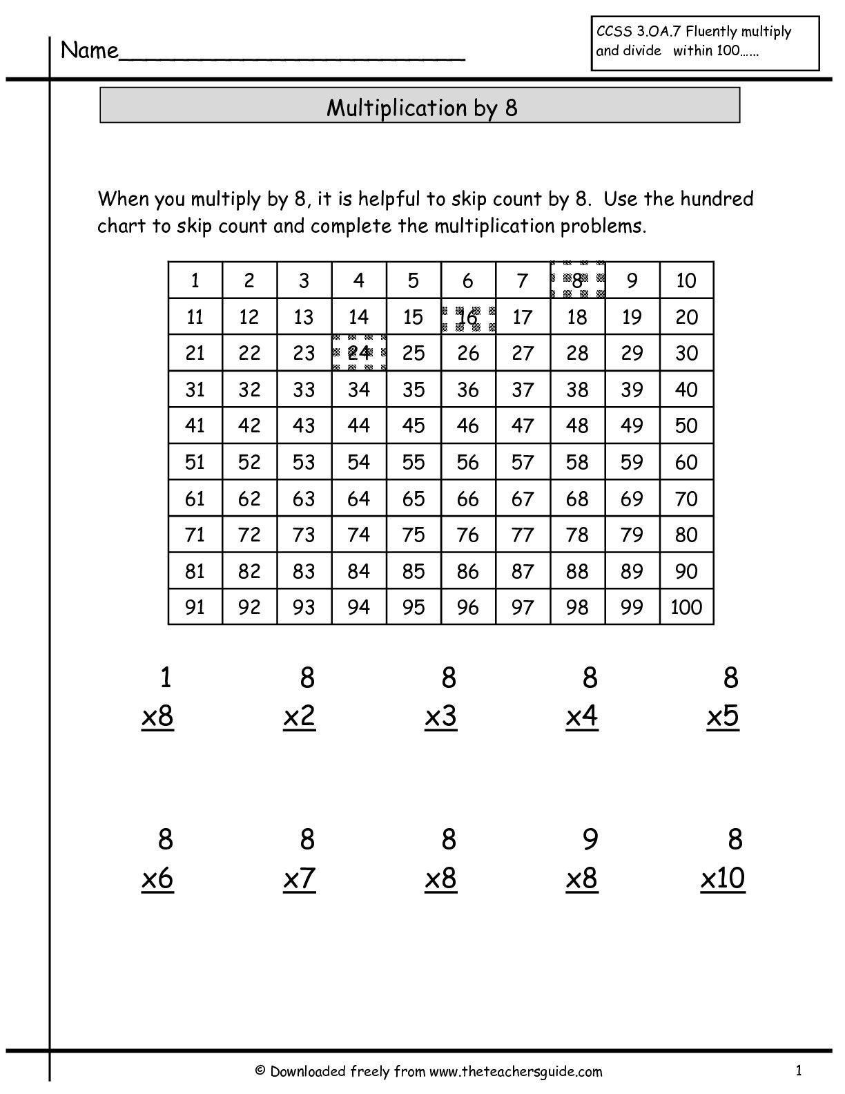 Multiplication By 0 And 1 Worksheet