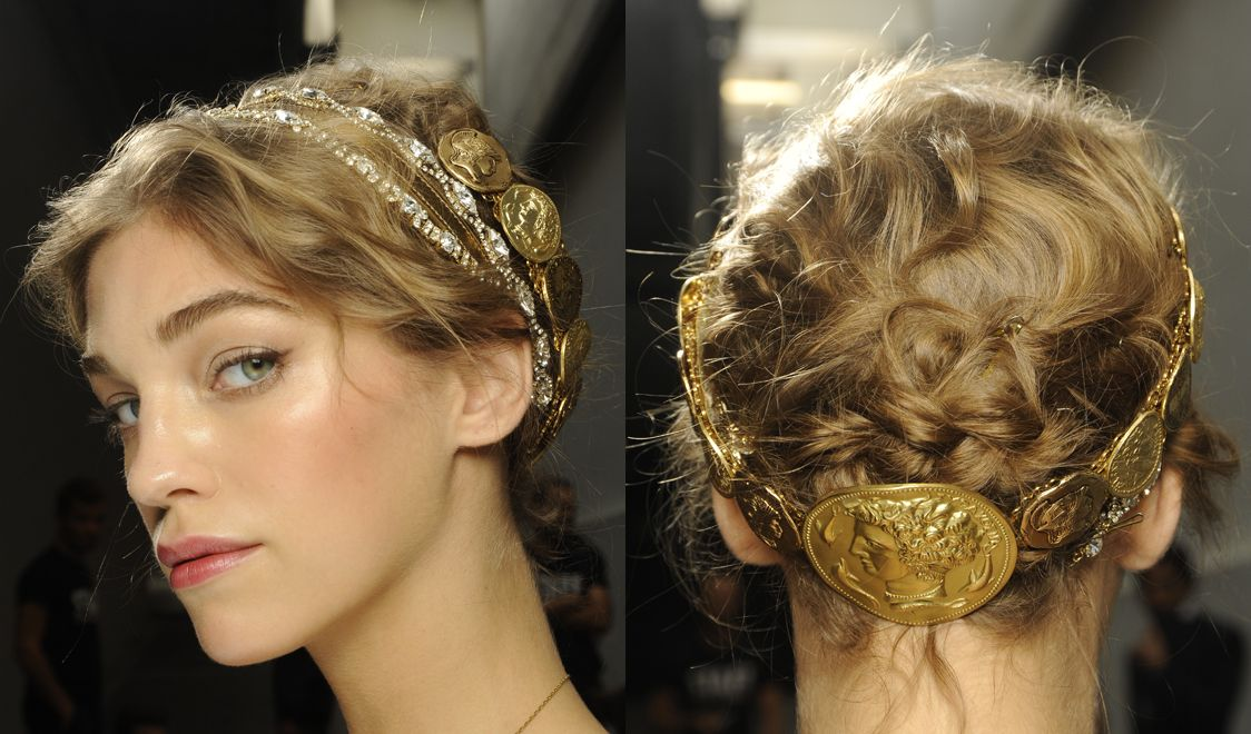 spring hairstyles 2014 | ... to life: The Dolce&Gabbana Spring Summer 2014 Collection hairstyles