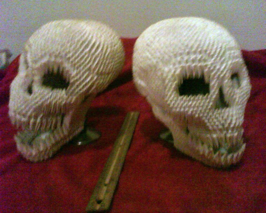 3d Origami Skulls By Dfoosdc Artcraft Ideas To Try Pinterest