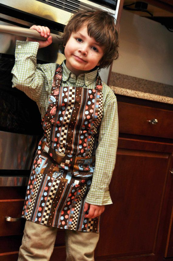 Children's Medium Adjustable Cooking Apron by QuiltandQuest, $27.00