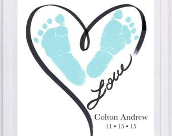 Footprint Butterfly And Quote Keepsake 2300 Pap Baby Footprint Art Footprint Wall Art Footprint Keepsake