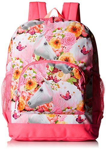 The Children S Place Big Girls Unicorn Backpack Neon Berry One