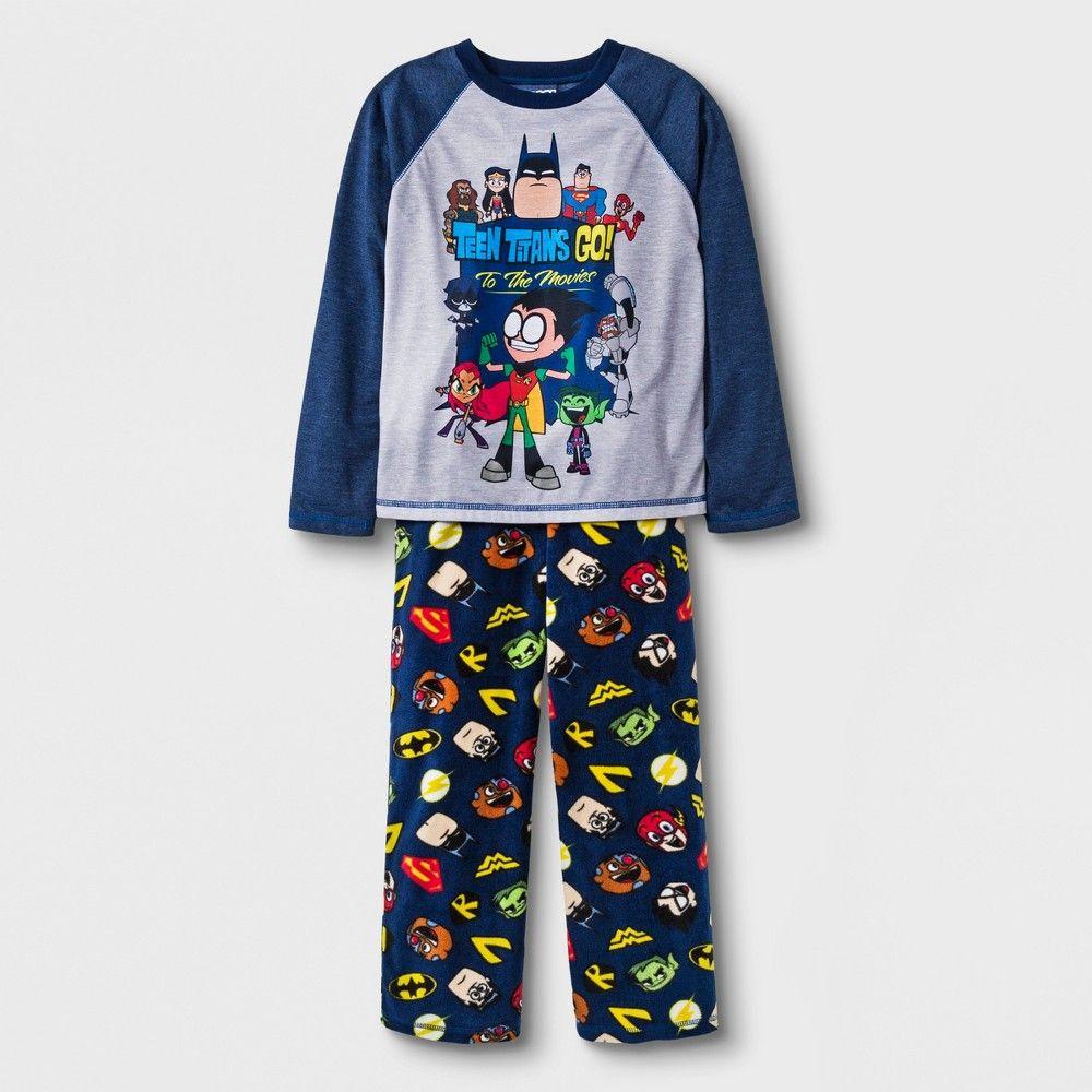 7684b7e6a000 Boys  Teen Titans 2pc Pajama Set - Blue XS